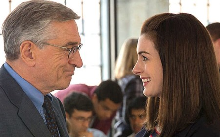 Ben (Robert De Niro) and Jules (Anne Hathaway) learning from each other in The Intern.